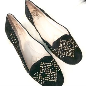 Vince Camuto Suede Studded Flats